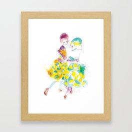Rainbow Fashion Framed Art Print