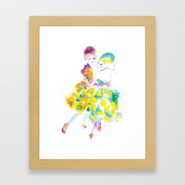 Rainbow Fashion Framed Art Print