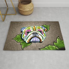 English Bulldog - Day of the Dead Sugar Skull Dog Rug