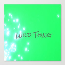 Lime Wild Thing Canvas Print