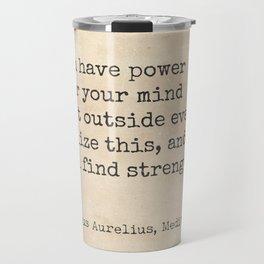 Marcus Aurelius, Meditations. Travel Mug