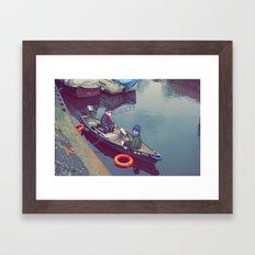 I'm On A Boat Framed Art Print