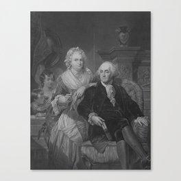President Washington At Home Canvas Print