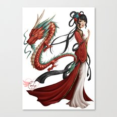Chinese dragon pure Canvas Print
