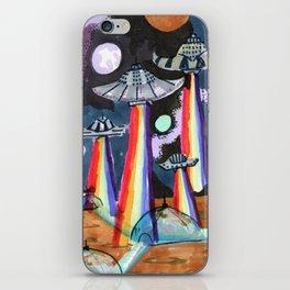 rainbow ufo iPhone Skin