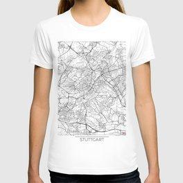 Stuttgart Map White T-shirt