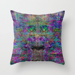 Senile Scream (abstract, psychedelic, visionary, glowing edges) Throw Pillow