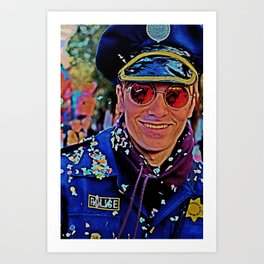 Mr.Policeman Art Print