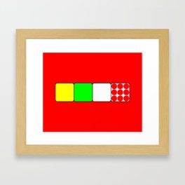 Tour de France Jerseys Alt 1 Red Framed Art Print