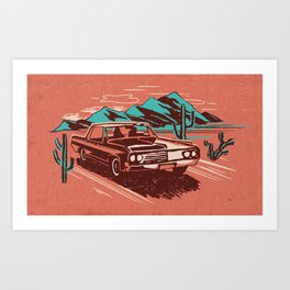 PALM SPRINGS CADILLAC Art Print