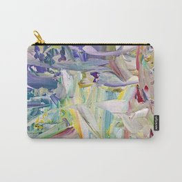 Abstracted Spring Iris Carry-All Pouch