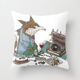 A Vinyl Christmas Throw Pillow