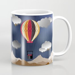 Balloon Aeronautics Rain Coffee Mug