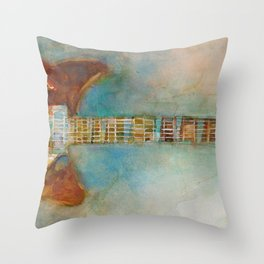 Rickenback Guitar Throw Pillow