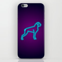 NEON BOXER DOG iPhone Skin