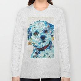 Small Dog Art - Who Me - Sharon Cummings Long Sleeve T-shirt