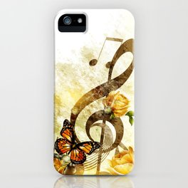Butterfly Music Notes iPhone Case