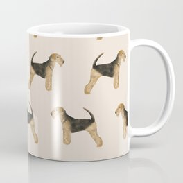 Airedale Terrier pattern dog breed cute custom dog pattern gifts for dog lovers Coffee Mug