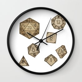Wooden Dice Wall Clock
