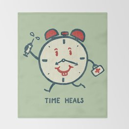 Time heals Throw Blanket