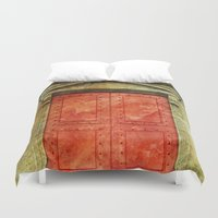 doors Duvet Covers featuring Red Doors by davehare