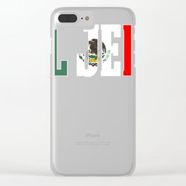 EL HEFE Mexican Design Mexican Flag Design For Mexican Pride With Border Clear iPhone Case