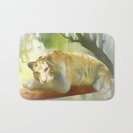 Chilling Tiger Bath Mat