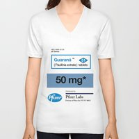 posters V-neck T-shirts featuring Kitchen Posters - Viagra/Guarana by mvaladao