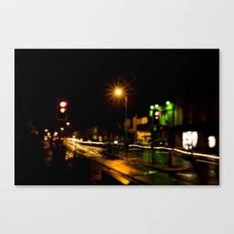 Stop light speedway Canvas Print