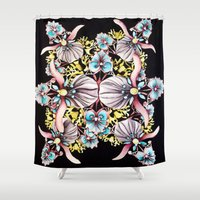 art nouveau Shower Curtains featuring Art Nouveau  by CrystalFairy