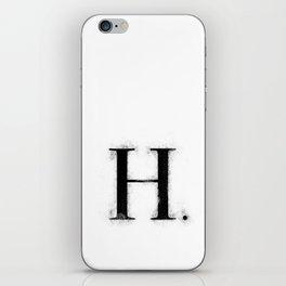 H . - Distressed Initial iPhone Skin