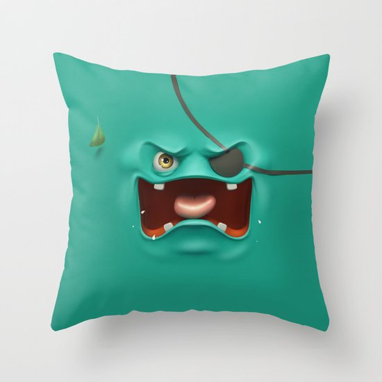 Angry face Throw Pillow