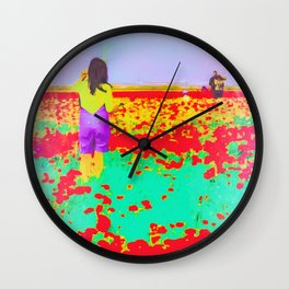 ..Tell Me A Story With Flowers.. Wall Clock