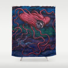 The Afterman Shower Curtain