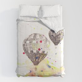 Hot Air Balloons Painting Comforters