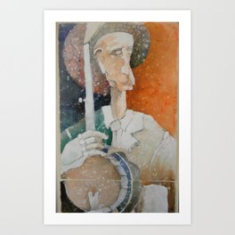 Banjo Player 1 Art Print