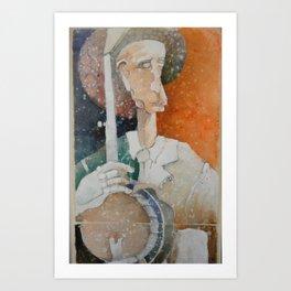 Banjo Player 1 Art Print