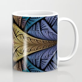 Twisted silk in gold, blue, purple and pink Coffee Mug