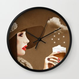 Heavenly Latte Macchiato Wall Clock