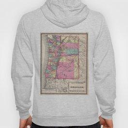 Vintage Map of Washington and Oregon (1872) Hoody