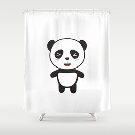 Kawaii Panda Bear Shower Curtain