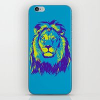 the lion king iPhone & iPod Skins featuring KING LION by free_agent08