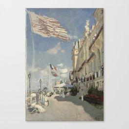 The Hotel Des Roches Noires At Trouville - Claude Monet Canvas Print