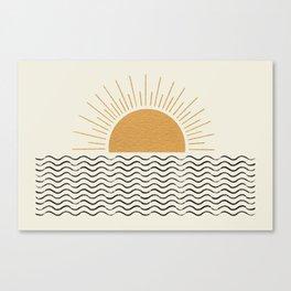 Sunrise Ocean -  Mid Century Modern Style Canvas Print