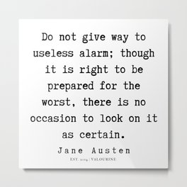90    | Jane Austen Quotes | 190722 Metal Print