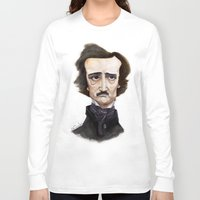 poe Long Sleeve T-shirts featuring Poe by Vito Quintans