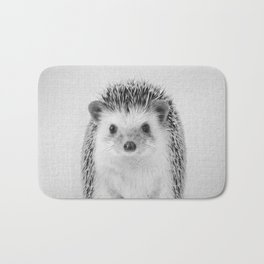 Hedgehog - Black & White Bath Mat