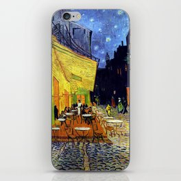 Cafe Terrace at Night iPhone Skin
