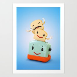 Happy Toaster Art Print