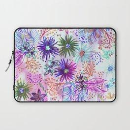 Eden Floral Multi White Laptop Sleeve